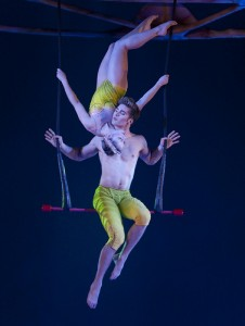 Floating Trapeze Artists Performing
